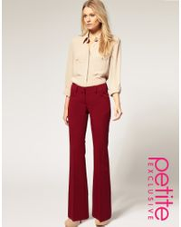 ASOS Collection - Red Asos Petite Exclusive Bootcut Trousers - Lyst