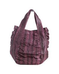 Beirn - Pink Bubblegum Snakeskin Jenna Ruched Top Handle Bag - Lyst