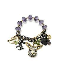 Betsey Johnson | Green Dark Forest Animal Charm Stretch Bracelet | Lyst