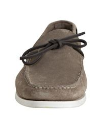 Car Shoe - Natural Khaki Suede Castoro Boat Stitch Loafers for Men - Lyst