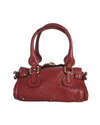 Chloé   Red Cherry Leather Paddington Mini Satchel   Lyst