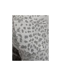 Current/Elliott | Gray The Stiletto Leopard Print Pants | Lyst