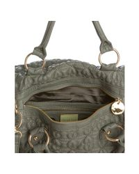 Deux Lux - Gray Grey Quilted Heart Love Drops Duffel Bag - Lyst