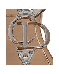 Dior | Metallic Silver Leather Cd Thong Flat Sandals | Lyst