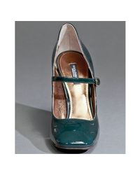 Dolce & Gabbana | Dark Green Patent Leather Mary Jane Pumps | Lyst