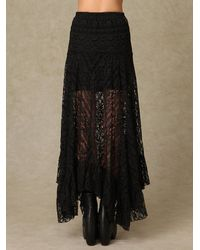 Free People | Black Directions in Lace Maxi Slip | Lyst
