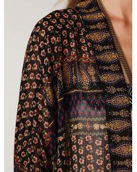 Free People - Black Paisley Printed Kimono - Lyst