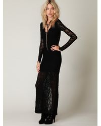 Free People | Black Victorian Lace Maxi Dress | Lyst