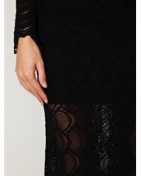 Free People - Black Victorian Lace Maxi Dress - Lyst