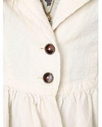 Free People - White Cropped Ruffle Peplum Jacket - Lyst