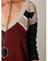Free People - Purple Warrior Chief Crochet Back Top - Lyst