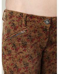 Free People | Multicolor Floral Printed Corduroy Ankle Skinny | Lyst