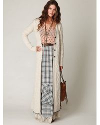 Free People | Natural Bobble Bee Maxi Cardigan | Lyst