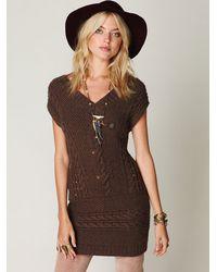 Free People | Brown Autumn Garden Dress | Lyst