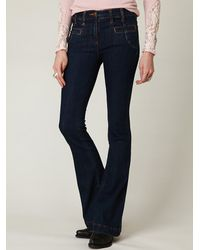 Free People | Blue 5-pocket Flare Jean | Lyst