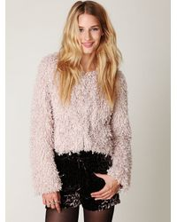 Free People | Pink Anita Fur Jacket | Lyst