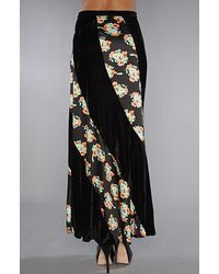 Free People - Black Twisted Velvet Maxi Skirt - Lyst
