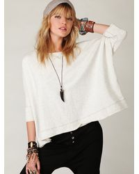 Free People | White Boxy Solid Pullover | Lyst
