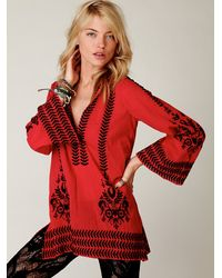 Free People | Embroidered Flora Pullover | Lyst