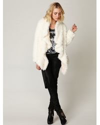 Free People - White Sherpa Coat  - Lyst