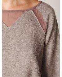 Free People - Purple Sweater Jersey Pullover - Lyst