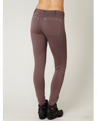 Free People | Brown 5 Pocket Seamed Knit Legging | Lyst