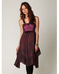 Free People | Brown Autumn Fields Dress | Lyst