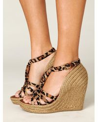 Free People | Multicolor Leroy Espadrille Wedge | Lyst