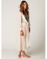 Free People - Natural Sheer Maxi Dress - Lyst
