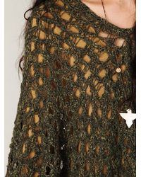 Free People - Green Sestiere Poncho - Lyst