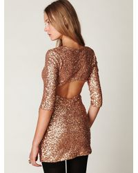 Free People | Metallic Sequin Sway Dress | Lyst