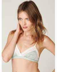Free People - Green Vintage Lace Bra - Lyst