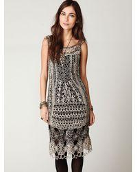 Free People | Metallic Fp Spun Roaring 20s Crochet Dress | Lyst