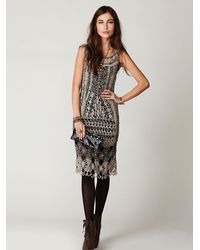 Free People - Metallic Fp Spun Roaring 20s Crochet Dress - Lyst