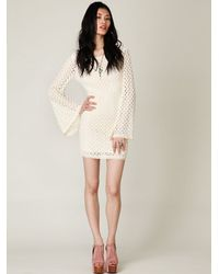 Free People | White Gypsy Lace Dress | Lyst