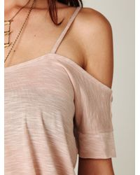 Free People | Pink We The Free Off The Shoulder Extreme Tunic | Lyst