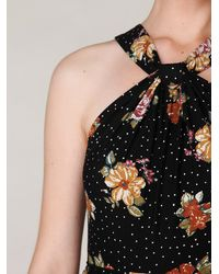 Free People | Black Floral Halter Maxi Dress | Lyst