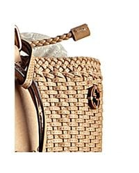 Gucci - Natural Beige Woven Leather Tote Bag - Lyst