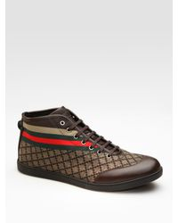 Gucci | Brown High-top Sneaker for Men | Lyst