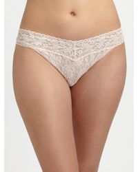 Hanky Panky - Pink Signature Lace Thong - Lyst