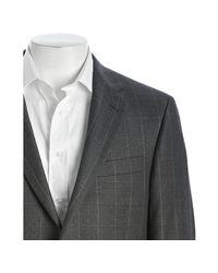 Hickey Freeman - Gray Grey Windowpane Check Wool Milburn 2-button Blazer for Men - Lyst