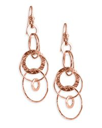 Ippolita | Metallic 'jet Set' Rose Hammered Earrings | Lyst