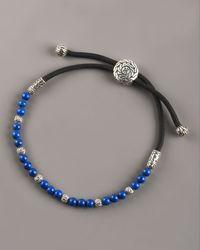 John Hardy - Black Lapis Bead Bracelet for Men - Lyst