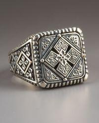 Konstantino - Metallic Maltese Cross Ring for Men - Lyst