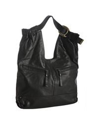 Kooba | Black Leather Lana Buckle Detail Shoulder Bag | Lyst