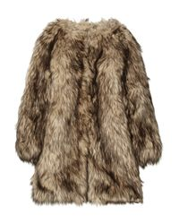MICHAEL Michael Kors | Brown Faux Fur Coat | Lyst