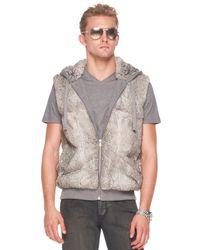 Michael Kors | Gray Rabbit Vest for Men | Lyst