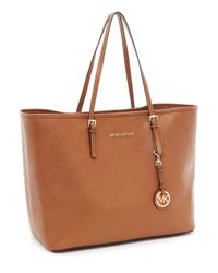 Michael Kors | Brown Jet Set Logo Medium Travel Tote, Luggage | Lyst