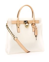 Michael Kors | White Large Hamilton Frosted Jelly Tote, Frosted Clear | Lyst