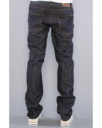 Obey - Blue The Standard Issue Slim Straight Fit Jeans in Raw Indigo for Men - Lyst
